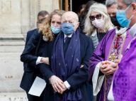 Obsèques de Lise Toubon : Jacques Toubon entouré, Claude Chirac et son mari présents