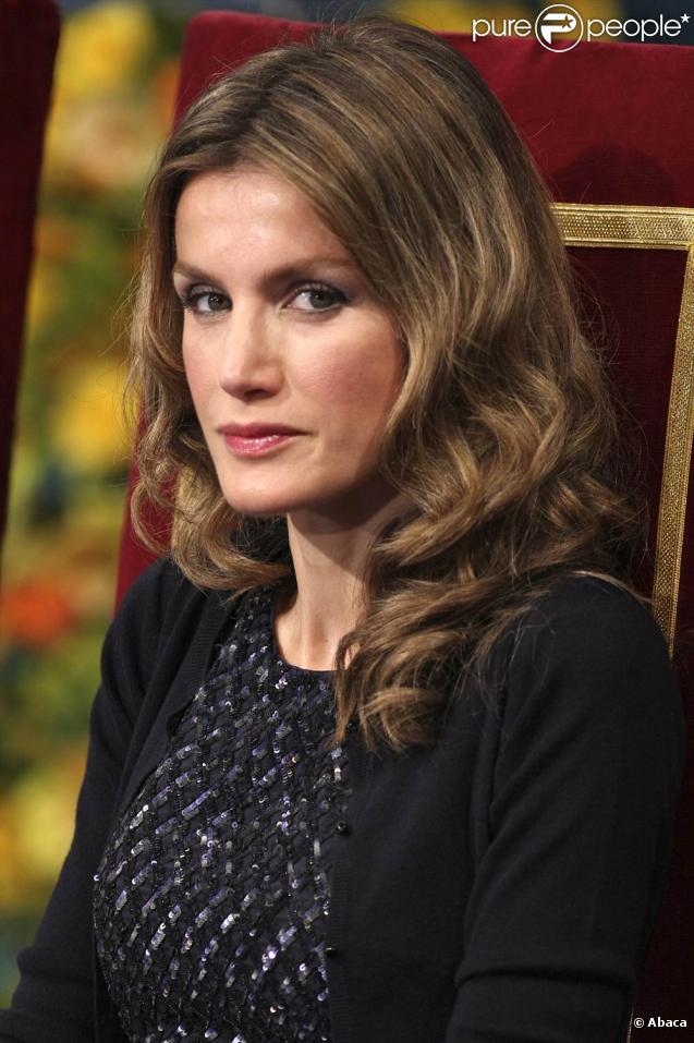 la Princesse Letizia d'Espagne lors de la cérémonie des Asturias Awards à Oviedo le 23 octobre 2009