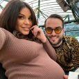 Laura Lempika enceinte de Zlatan, elle pose avec Nikola Lozina, le 29 octobre 2020