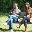 """Exclusif - Sebastien Roch et Elsa Esnoult - Reprise du tournage de la série """"Les Mystères de l'amour"""" à Cergy-Pontoise. Le 14 mai 2020."""