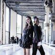 """Claire Chust et Assa Sylla - People au défilé de mode Haute-Couture automne-hiver 2019/2020 """"Georges Chakra"""" au Palais de Tokyo à Paris. Le 1er juillet 2019"""