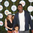 Keyshawn Johnson, Jennifer Johnson et leurs deux enfants en avril 2015.