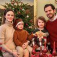 Le prince Carl Philip de Suède, son épouse la princesse Sofia et leurs deux enfants, le prince Gabriel et le prince Alexander, sur Instagram.