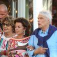 """Bernard Tapie et sa femme Dominique sont allés diner au restaurant """"Le Girelier"""" à Saint-Tropez. Le 15 juillet 2020."""