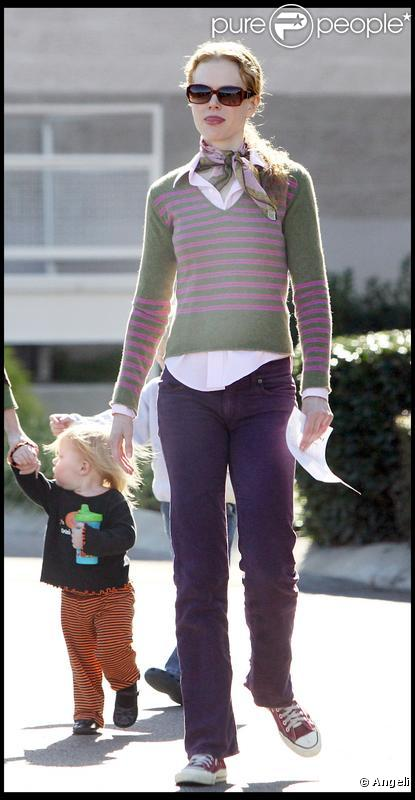 Nicole Kidman et son époux ont accompagné leur adorable fille à une leçon d'éveil musical à Nashville le 26/10/09