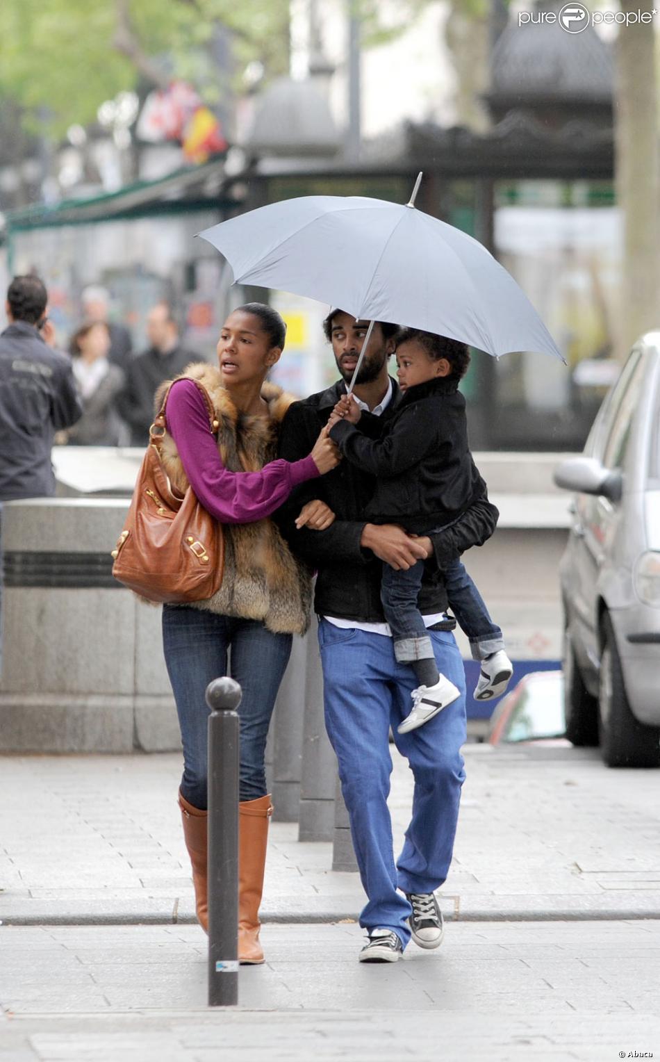 Ayo, son compagnon Patrice et son fils Nile - Purepeople