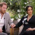 Le prince Harry et Meghan Marke lors de leur interview avec Oprah Winfrey, le 7 mars 2021.