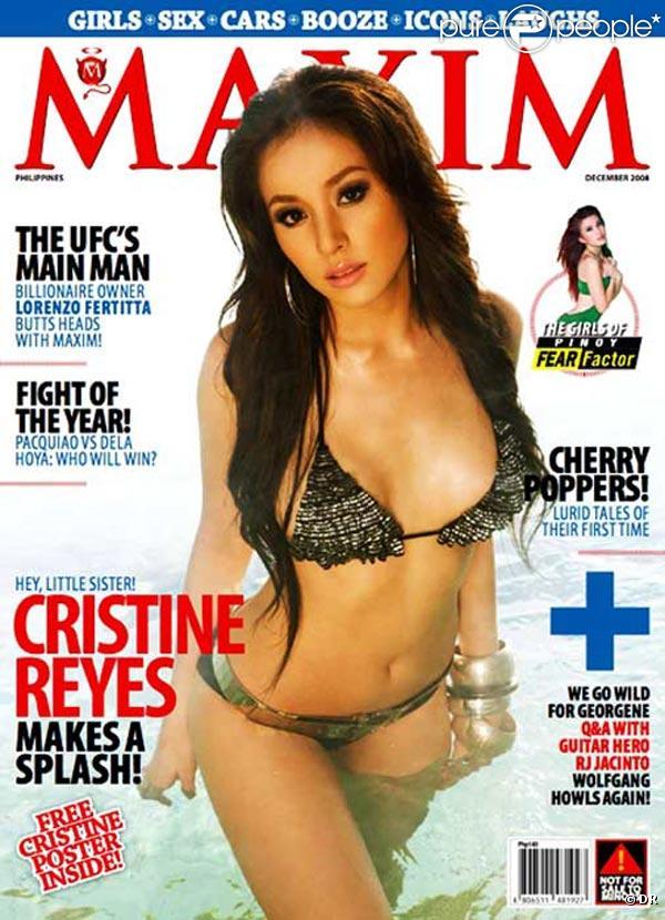 La ravissante Cristine Reyes en couverture de  Maxim  !