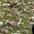 Atmosphère avant les funérailles du prince Philip, duc d'Edimbourg à la chapelle Saint-Georges du château de Windsor, le 17 avril 2021.
