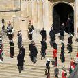 Obsèques du prince Philip à la chapelle Saint-Georges du château de Windsor, le 17 avril 2021.