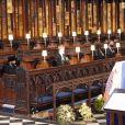 Elizabeth II - Obsèques du prince Philip à la chapelle Saint-Georges du château de Windsor, le 17 avril 2021.