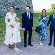 La princesse Victoria de suède, la princesse Estelle, le prince Daniel, la princesse Sofia (Hellqvist ) , le prince Carl Philip - La famille royale de Suède se retrouve au palais Solliden pour le Victoria Day, l'anniversaire de la princesse Victoria de Suède à Borgholm le 14 juillet 2020.