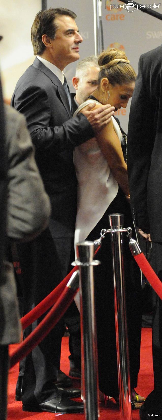 Sarah Jessica Parker et Chris Noth sur le tournage de Sex and The City 2 le 17 octobre 2009