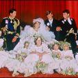 Lady Diana et le prince Charles lors de leur mariage en 1981, à Londres.