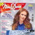 """Audrey Fleurot en couverture du magazine """"Nous Deux"""", numéro du 5 mai 2021."""
