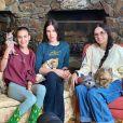 Demi Moore et ses filles Scout LaRue et Tallulah Willis. Avril 2020.