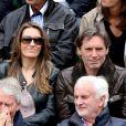 Anne-Claire Coudray et son compagnon Nicolas Vix dans les tribunes des internationaux de France de Roland Garros à Paris le 4 juin 2016. © Moreau - Jacovides / Bestimage