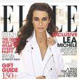 """Lea Michele en couverture de l'édition australienne du magazine """"ELLE""""."""