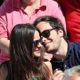 Vianney et sa compagne Catherine Robert - Personnalités dans les tribunes lors des internationaux de France de Roland Garros à Paris. Le 10 juin 2017. © Jacovides - Moreau / Bestimage
