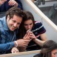 Vianney Bureau (Vianney) et sa compagne Catherine Robert - People dans les tribunes lors de la finale messieurs des internationaux de France de tennis de Roland Garros 2019 à Paris le 9 juin 2019. © Jacovides-Moreau/Bestimage