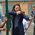 Catherine (Kate) Middleton, duchesse de Cambridge, lors d'une séance de santé mentale et de bien-être lors d'une visite à The Way Youth Zone à Wolverhampton, Royaume Uni, le 13 mai 2021.2021.