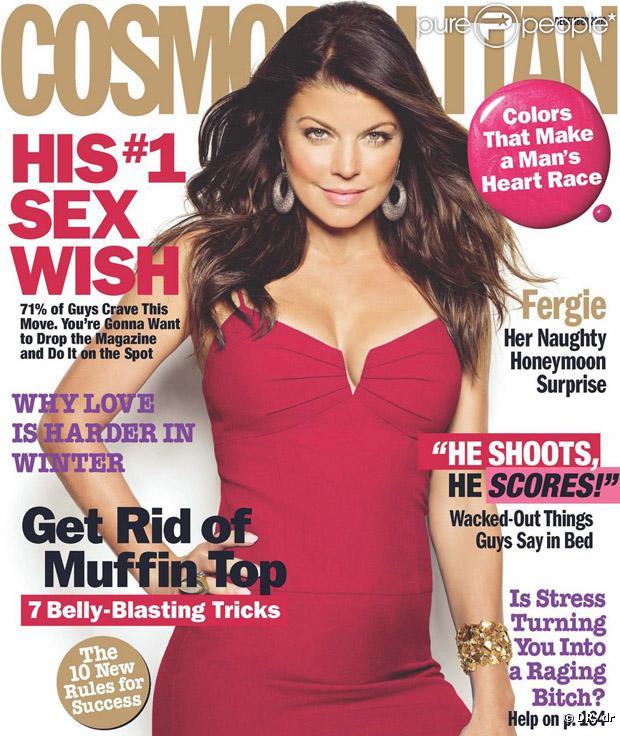 Fergie en couverture du magazine Cosmopolitan