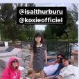 Maxim Nucci et Isabelle Ithurburu rendent visite à Sandra Sisley. Instagram. Le 24 mai 2021.