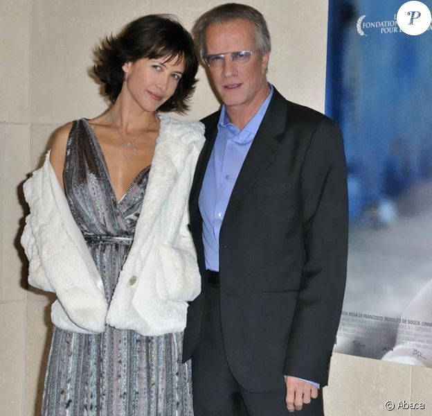 Sophie Marceau et Christophe Lambert, à l'occasion de l'avant-première de L'homme de chevet, d'Alain Monne, qui s'est tenue à la Cinémathèque de Paris, le 9 novembre 2009.