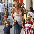 Sharon Stone et ses enfants, le 19 octobre à Los Angeles.