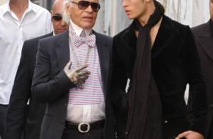 Karl Lagerfeld délaisse Claudia Schiffer en discothèque au profit... d'un beau brun !