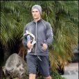 Matthew McConaughey sortant de son club de gym, le 11 novembre 2009 à Malibu