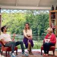 """Mercotte poste une photo en compagnie de Marie Portolano et Cyril Lignac, sur le tournage de la saison 10 du """"Meilleur Pâtissier"""", le 9 juin 2021"""