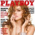 La superbe Sharon Stone en couverture de  Playboy  !