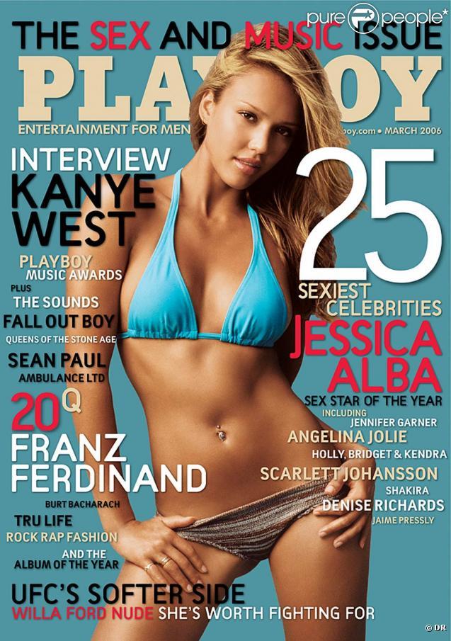 La superbe Jessica Alba en couverture de  Playboy  !