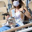 Amandine Petit, Miss France 2021, dans les tribunes des Internationaux de France de Tennis de Roland Garros. Paris, le 10 juin 2021 © Dominique Jacovides / Bestimage