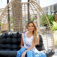Amandine Petit, Miss France 2021, au village lors des Internationaux de France de Tennis de Roland Garros à Paris. Le 10 juin 2021 © Dominique Jacovides / Bestimage