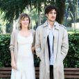 Valeria Bruni Tedeschi et son ex-compagnon Louis Garrel à Rome, le 22 Octobre 2013.