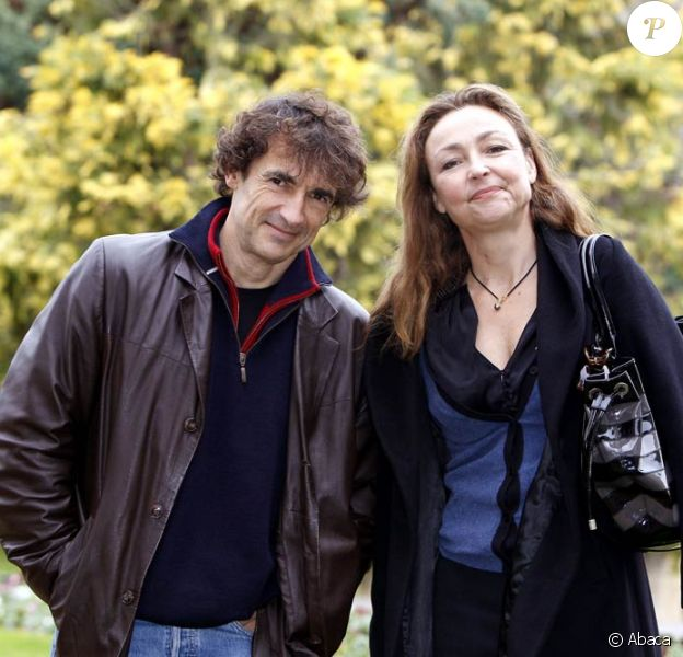 Albert Dupontel et Catherine Frot, lors de la présentation du Vilain, à l'occasion du Festival du Film de Sarlat, le 12 novembre 2009.