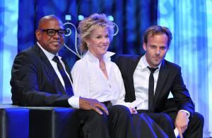 Jane Fonda, une magnifique dame de coeur... face à un Jermaine Jackson le... pique assiette des soirées !