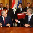 Les deux ministres de la Défense signent un accord franco-irakien. 16/11/09