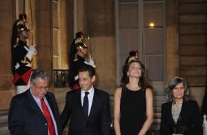 Nicolas Sarkozy et sa Carlita fâchée... ont réuni un parterre de personnalités à L'Elysée !