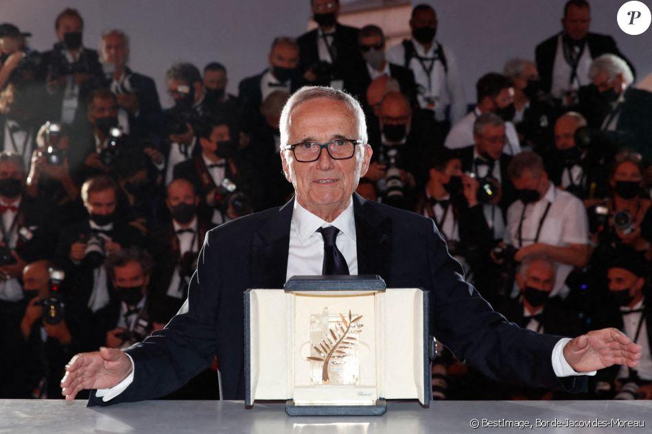 Marco Bellocchio (Palme d'or d'honneur pour l'ensemble de sa carrière) - Photocall des lauréats du 74ème Festival International du Film de Cannes, le 17 juillet 2021. © Borde-Jacovides-Moreau/Bestimage