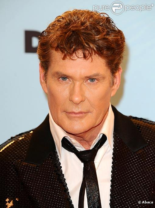 David Hasselhoff pose durant les European MTV Music Awards, à Berlin, en novembre 2009