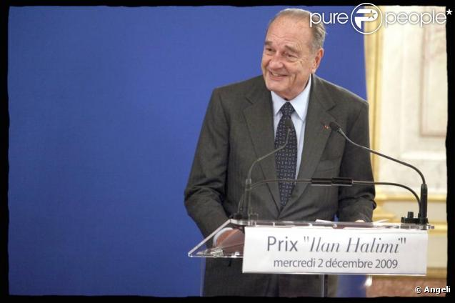 Jacques Chirac au prix Ilan Halimi le 2/12/09 à l'Assemblée nationale