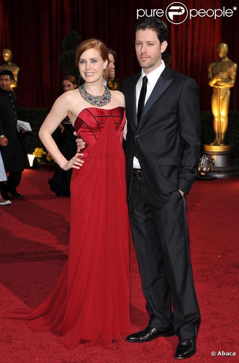 Amy Adams et son fiancé Darren Le Gallo à la cérémonie des Oscars en février 2009