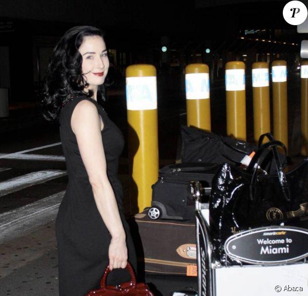 Dita Von Teese à Miami, le 3 décembre 2009