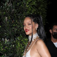 Rihanna se rend au restaurant Giorgio Baldi accompagnée de sa nièce Majesty à Santa Monica le 21 aout 2021.