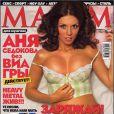 La ravissante Anna Sedokova en couverture de  Maxim .