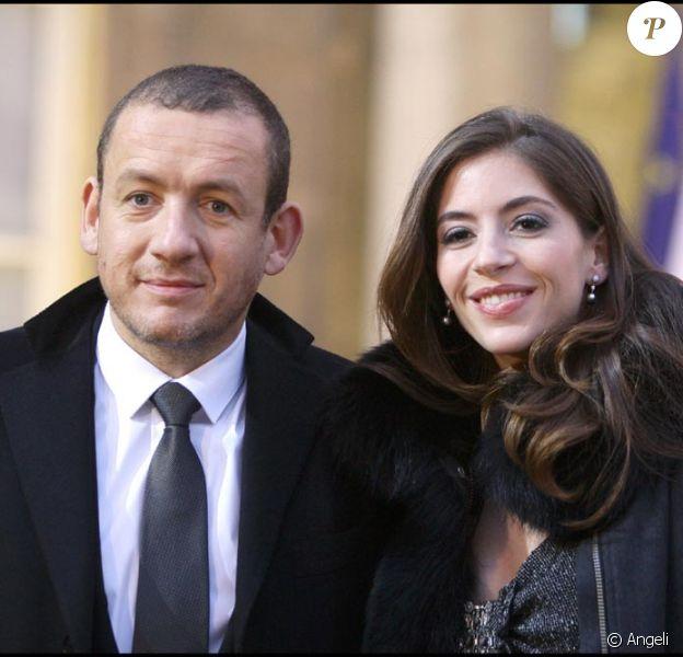 Dany Boon et sa femme Yaël à l'Elysée le 10 novembre