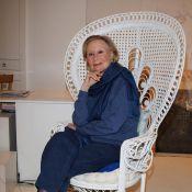 Quand la grande Michèle Morgan, rayonnante, nous dévoile... ses jolies oeuvres picturales !